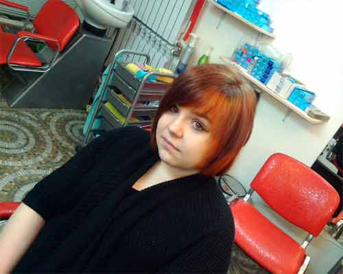 Youth creative haircut and coloring